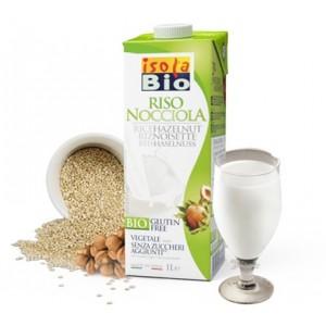 Φυτικό ρόφημα ρυζιού με φουντούκι 1L isolaBio