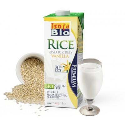 Φυτικό ρόφημα ρυζιού με βανίλια 1L isolaBio